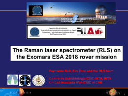 Desarrollo del espectrómetro Láser Raman (RLS