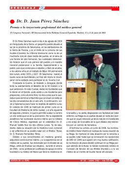 Dr. D. Juan Pérez Sánchez - Revista Medicina General y de Familia