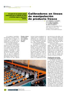 Calibradores para la manipulación de producto fresco