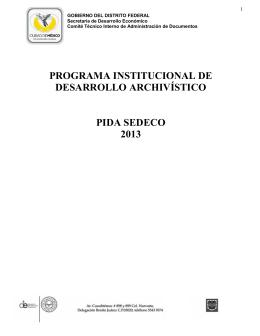 PROGRAMA INSTITUCIONAL DE DESARROLLO