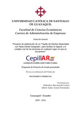 Proyecto Final - Universidad Católica de Santiago de Guayaquil