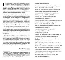 La relación entre el Museo del Grabado Español Contem