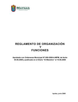 ROF - Municipalidad Provincial de Maynas