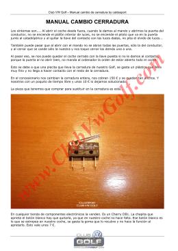 MANUAL CAMBIO CERRADURA