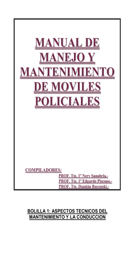 manual de manejo y mantenimiento de moviles policiales