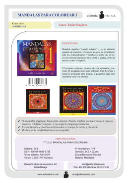 Ficha técnica: Mandalas para colorear I