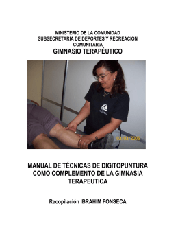 gimnasio terapéutico manual de técnicas de digitopuntura como