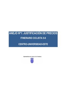 ANEJO Nº1: JUSTIFICACIÓN DE PRECIOS