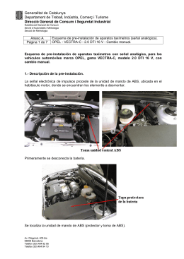 Vectra C 2.0 DTI Manual