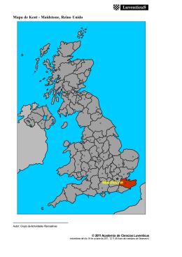 Mapa de Kent - Maidstone, Reino Unido