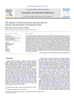 The influence of facial masculinity and voice pitch on jealousy and