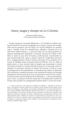 Amor, magia y tiempo en La Celestina - Parnaseo