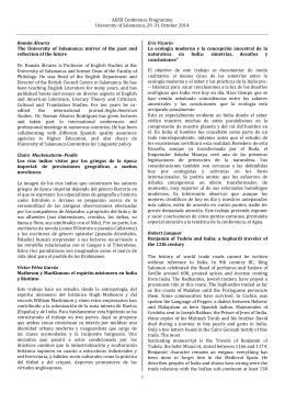 AEEII Conference Programme University of Salamanca, 29