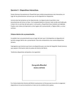 Ejercicio 3 – Diapositivas Interactivas.