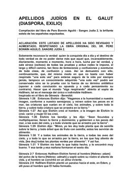 APELLIDOS JUDÍOS EN EL GALUT _DIASPORA, EXILIO_