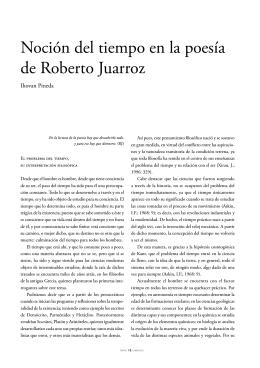 Noción del tiempo en la poesía de Roberto Juarroz