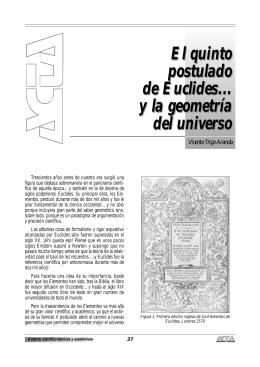 El quinto postulado de Euclides... y la geometría del universo