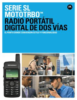 serie sl mototrbo™ radio portátil digital de dos vías