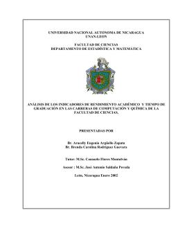 UNIVERSIDAD NACIONAL AUTONOMA DE NICARAGUA UNAN