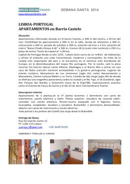 LISBOA-PORTUGAL APARTAMENTOS en Barrio Castelo