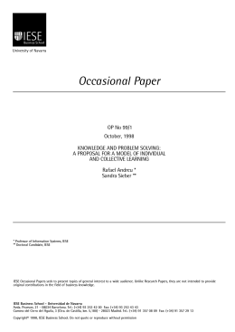 Occasional Paper - IESE Business School