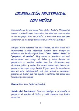 CELEBRACIÓN PENITENCIAL CON NIÑOS - FERE-CECA