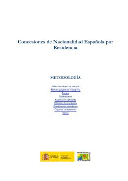 Concesiones de Nacionalidad Española por Residencia