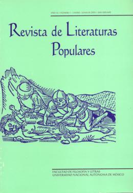 Revista de Literaturas Popu[ares - Repositorio de la Facultad de