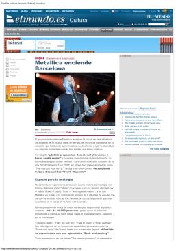 Metallica enciende Barcelona | Cultura | elmundo.es
