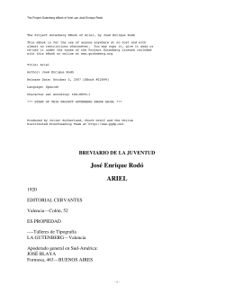 The Project Gutenberg eBook of Ariel, par José Enrique Rodó.