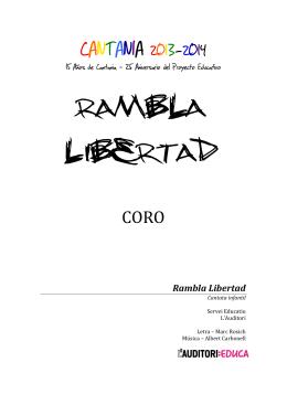 RAMBLA LIBERTAD - CEIP Gonzalo de Berceo