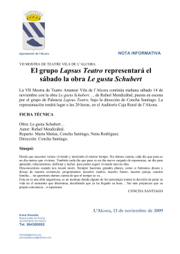 El grupo Lapsus Teatro representará el sábado la obra Le gusta