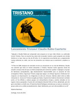 comunicado Tristano Rubio Pendiente