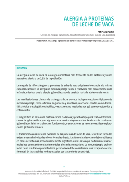 ALERGIA A PROTEÍNAS DE LECHE DE VACA