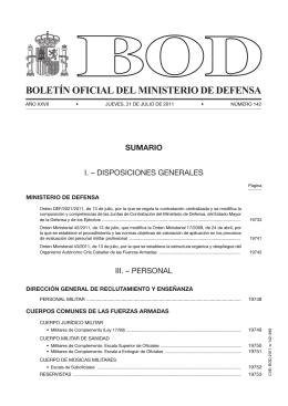 BOLETÍN OFICIAL DEL MINISTERIO DE DEFENSA