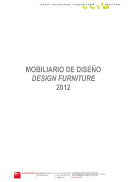 Catálogo Mobiliario Diseño 2012