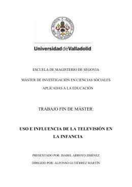 uso e influencia de la televisión en la infancia