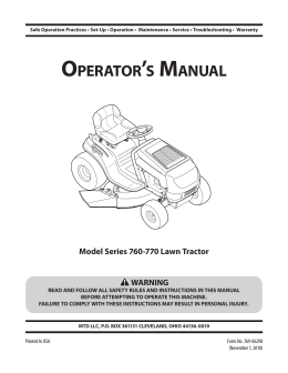 OPERATORTS MANUAL - Tractor Supply Company