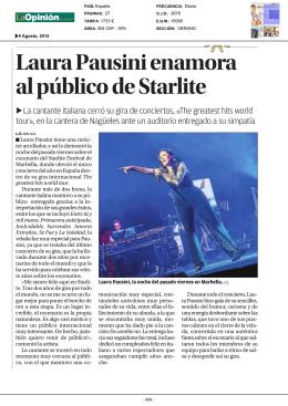 Laura Pausini enamora al público de Starlite