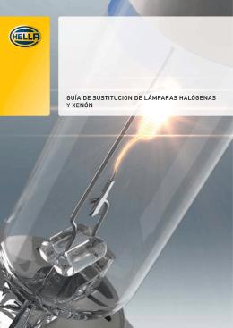 Guía de sustitución de lámparas halógenas y xenón