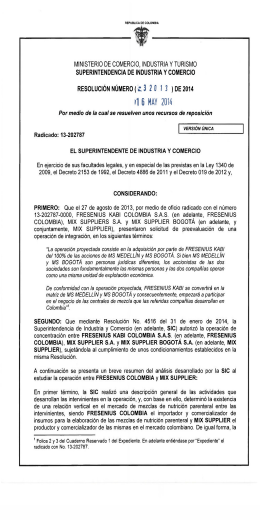 1 6 MAY 2014 - Superintendencia de Industria y Comercio