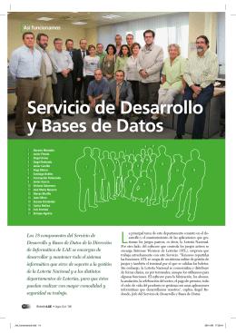LAE por dentro - Servicio de Desarrollo y Bases de Datos