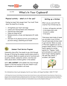 What`s In Your Cupboard? - Oregon State University Extension Service