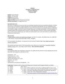 SPN3350 Gramática y composición para Estudiantes bilingües