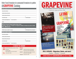 AAGRAPEVINECatalog