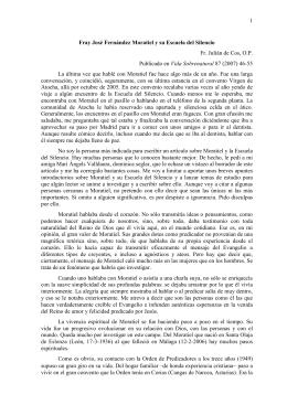 Fray José Fernández Moratiel y su Escuela del Silencio