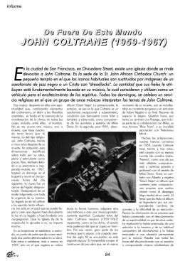 22. John Coltrane. De fuera de este mundo