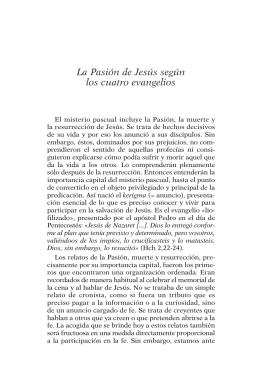 La Pasión de Jesús según los cuatro evangelios