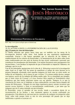 El Jesús histórico – Santiago Guijarro Oporto