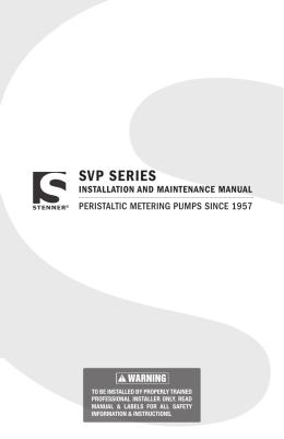 SVP SERIES - Stenner Pump Company